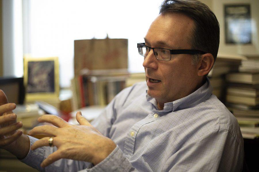 Dr. W. Paul Reeve, professor of history at the University of Utah. Reeve teaches Utah history, Mormon history, and the history of the U.S. West.    (Photo by: Justin Prather | The Daily Utah Chronicle).