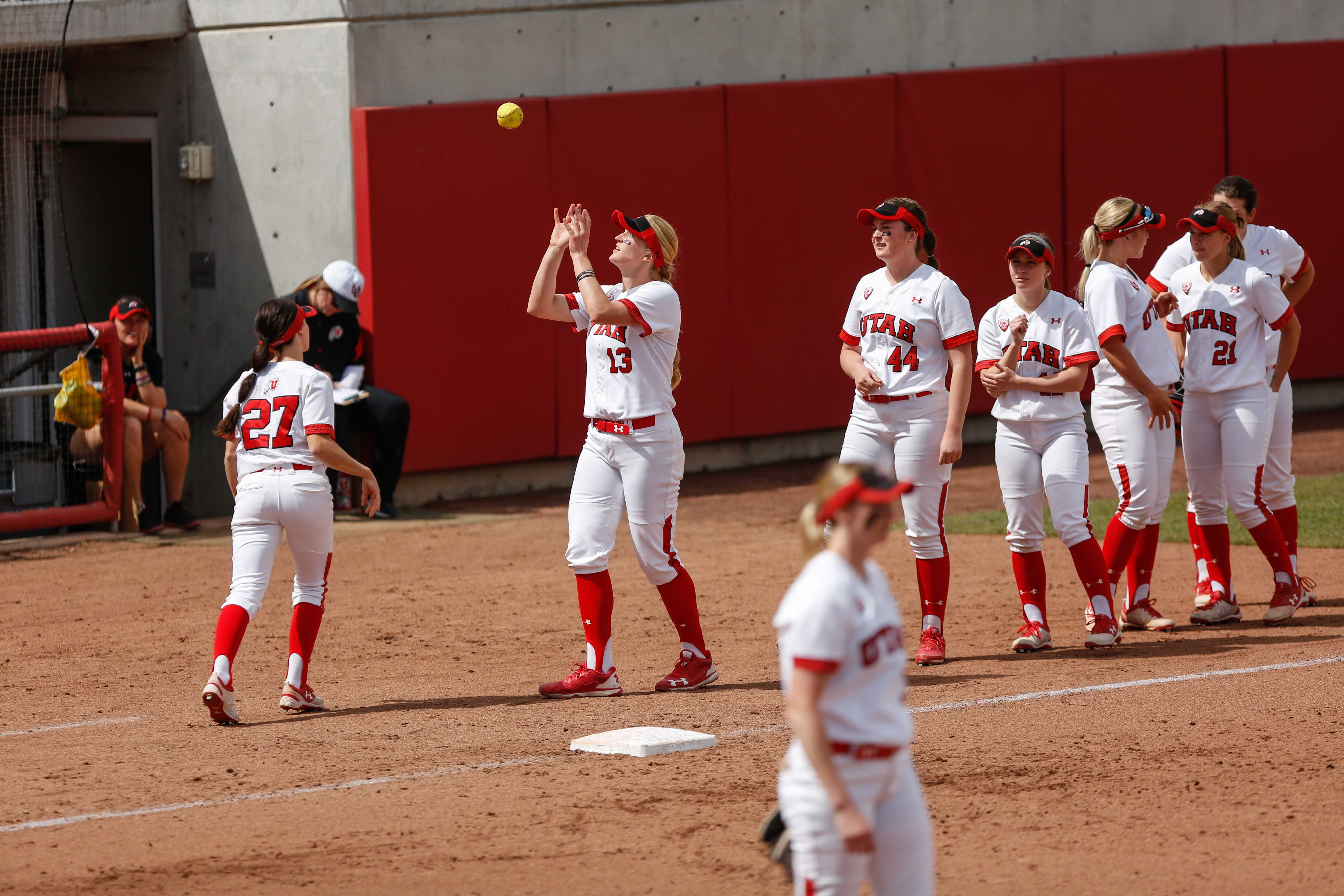 The Ute's softball team defended the diamond in a three game series against UCLA.   (Photo by: Justin Prather | The Daily Utah Chronicle)