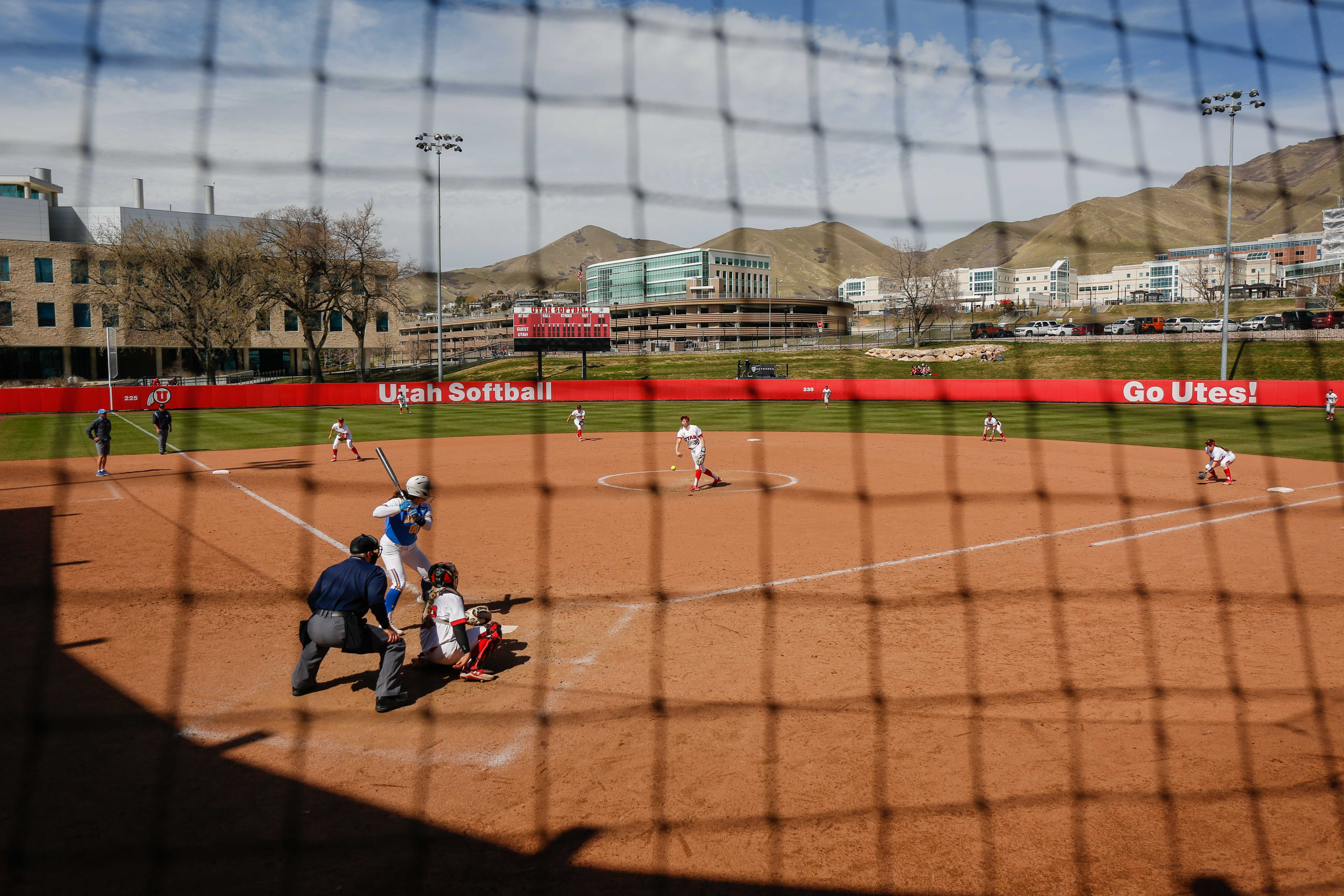 The Ute's softball team defended the diamond in a three game series against UCLA.   (Photo by: Justin Prather / Daily Utah Chronicle)