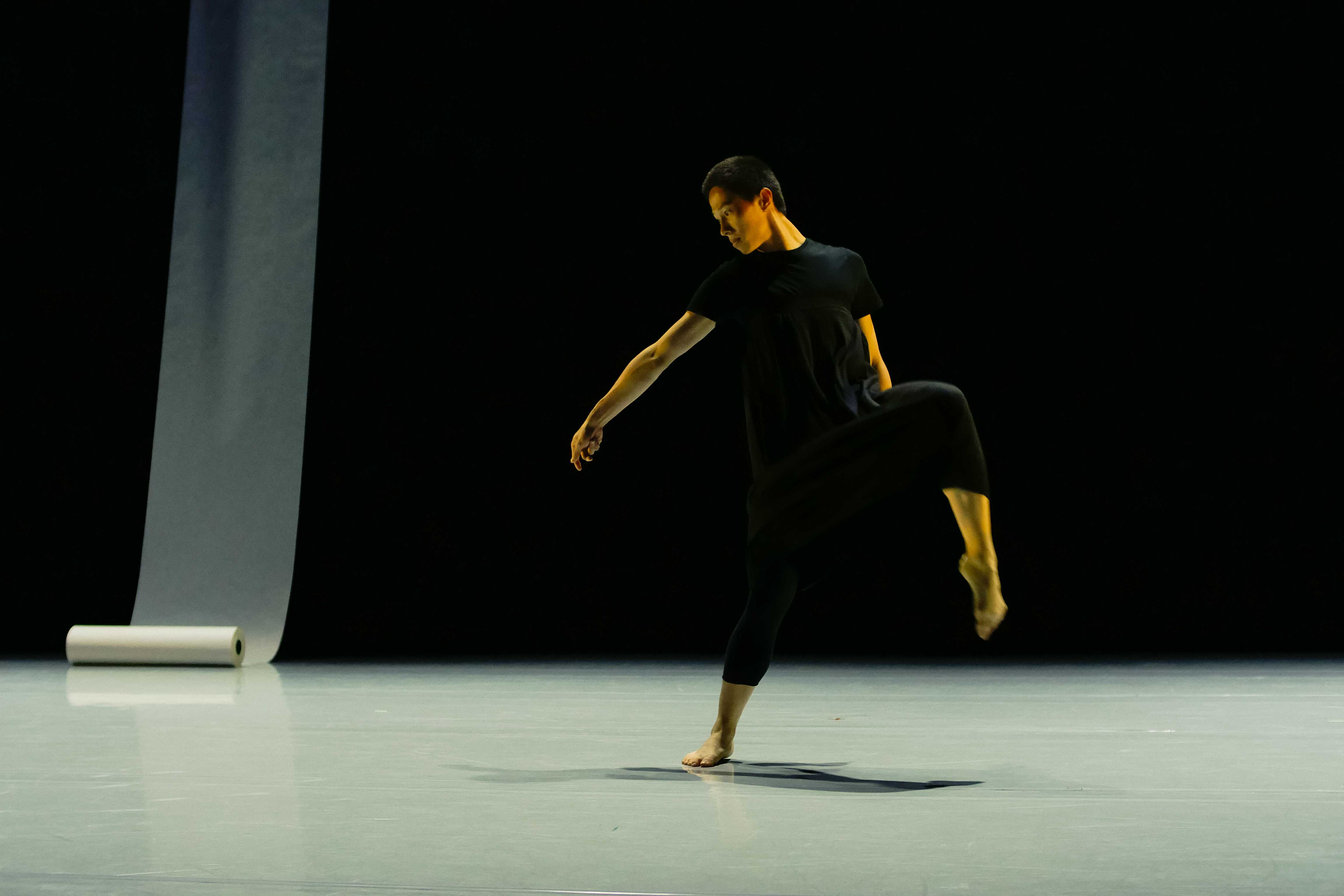 Chang Liu performs in his own piece