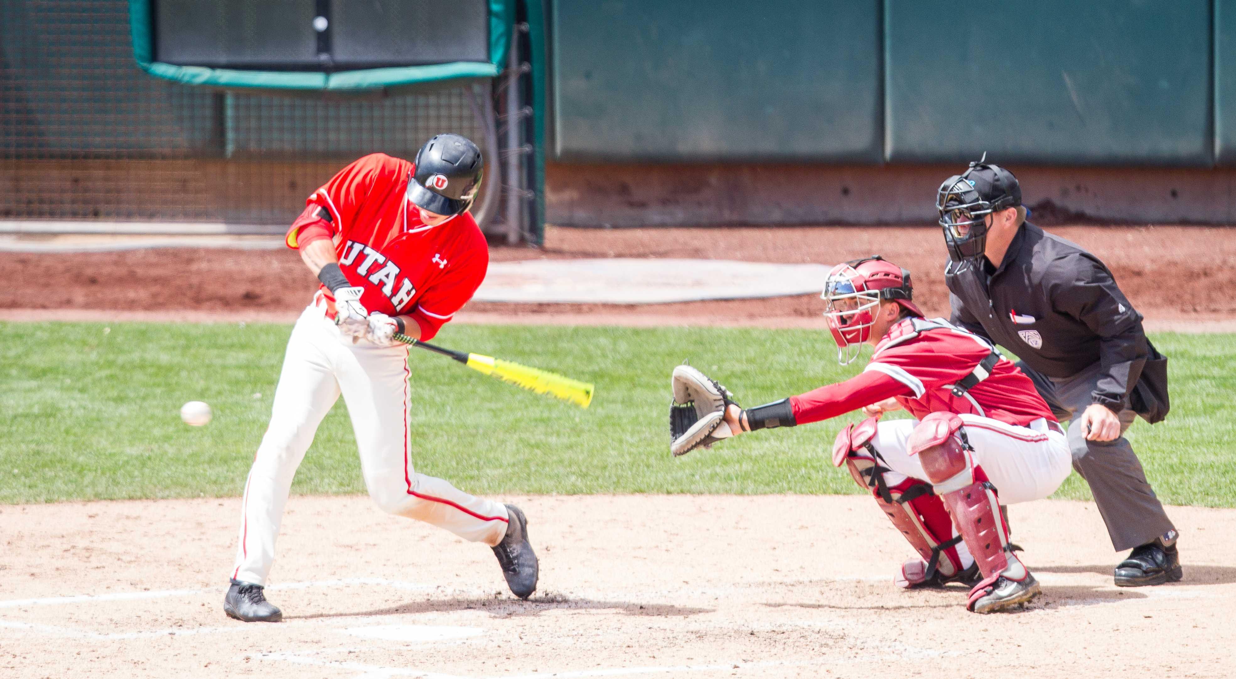 Sophmore Dashawn Keisey Jr. (21) during the University of Utah Baseball game against Washington State at Smith's Ballpark, Salt Lake City, UT, 4/29/17.  Photo by Adam Fondren/Daily Utah Chronicle