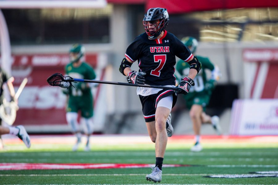 University+of+Utah+freshman+long+stick+middie+Chris+Belcher+%287%29+ran+the+ball+up+field+in+an+NCAA+Men%27s+Lacrosse+game+vs.+Vermont+at+Rice-Eccles+Stadium+in+Salt+Lake+City%2C+UT+on+Friday+February+01%2C+2019.%0A%0A%28Photo+by+Curtis+Lin+%7C+Daily+Utah+Chronicle%29