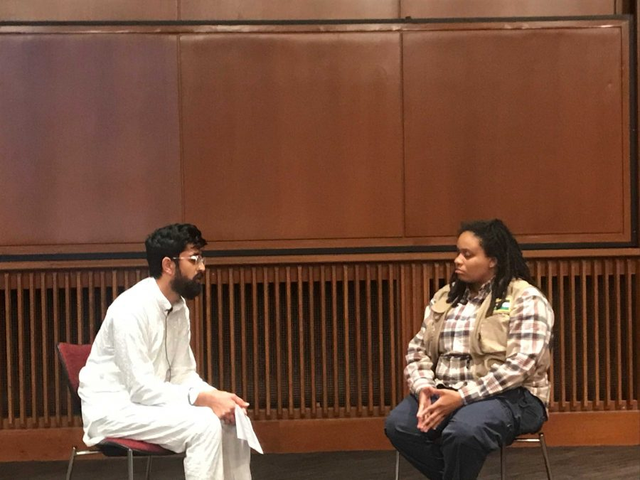 "Puneet Singh and activist Takiyah Thompson at ASUU Diversity Board event, ""United Against White Supremacy"