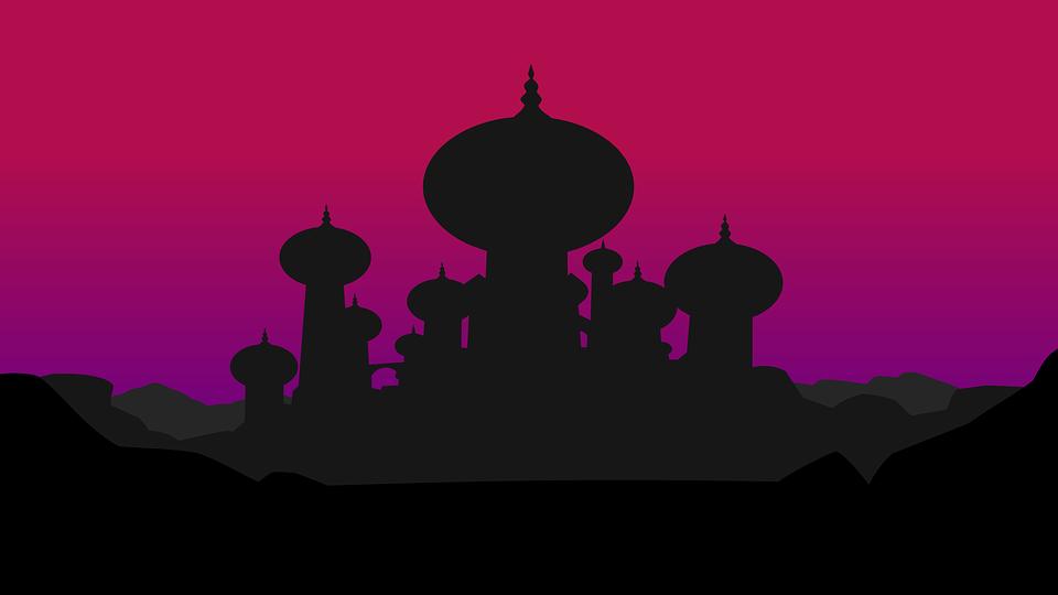 Palace of Agrabah illustration. Courtesy of Pixabay