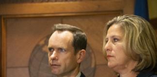 Jill and Matthew McCluskey at Press Conference
