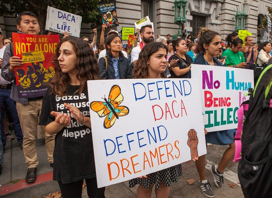 Protestors+in+San+Fransisco+after+the+recision+of+DACA+on+Sept.+5%2C+2017.+%28Courtesy+Wikimedia+Commons%29