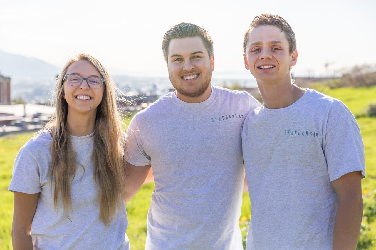 Rexchanger's founders teamed up to create a premier outdoor gear rental service. From left to right: Cara MacDonald, Tyler Sanford and Sam Tyler. Image courtesy Rexchanger.