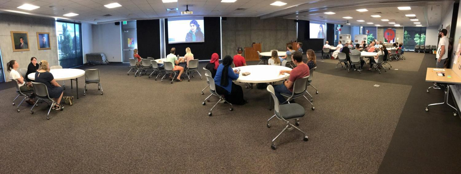 Students attend the film screening at the Social Work Building at the University of Utah on Aug. 17, 2019. (Courtesy of Peter Johnston.)