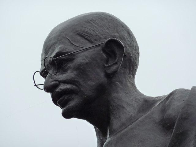 Statue of Mahatma Gandhi on Belgrave Road in London (Courtesy georgraph.org)