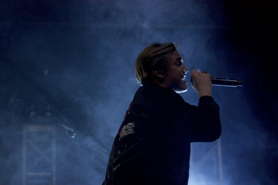 Jesse McCartney performing at The U's homecoming concert.