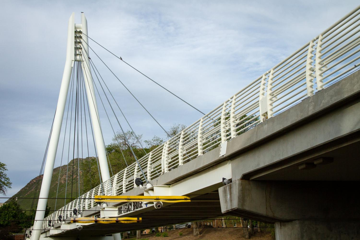 The Legacy Bridge that connects upper and lower campuses at the University of Utah, Salt Lake City, UT 5/14/17. (Photo by Adam Fondren | The Daily Utah Chronicle)