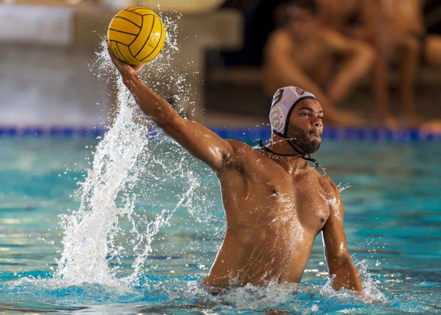 Competing in the CWPA Rocky Mountain Division's first University of Utah men's water polo tournament of the season. (Photo by Kiffer Creveling)