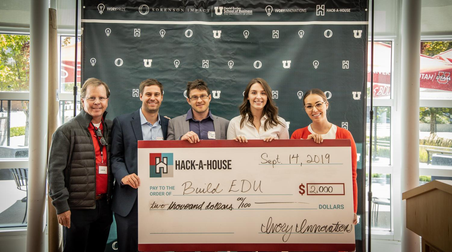 Student winners of Hack-a-House. (Courtesy Abby Ivory)