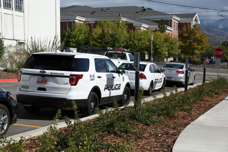 University of Utah Police Cars, Salt Lake City on Tuesday, Sep. 19, 2017 (Photo by Ben Mccleery | Daily Utah Chronicle)