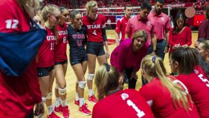 No. 18 Utah Volleyball Takes on Washington Teams at Home
