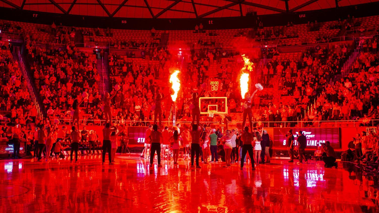 The University of Utah is introduced before an NCAA Basketball game vs. The University of Washington at the Jon M. Huntsman Center in Salt Lake City, Utah on Thursday, Jan. 10, 2019. (Photo by Kiffer Creveling | The Daily Utah Chronicle)