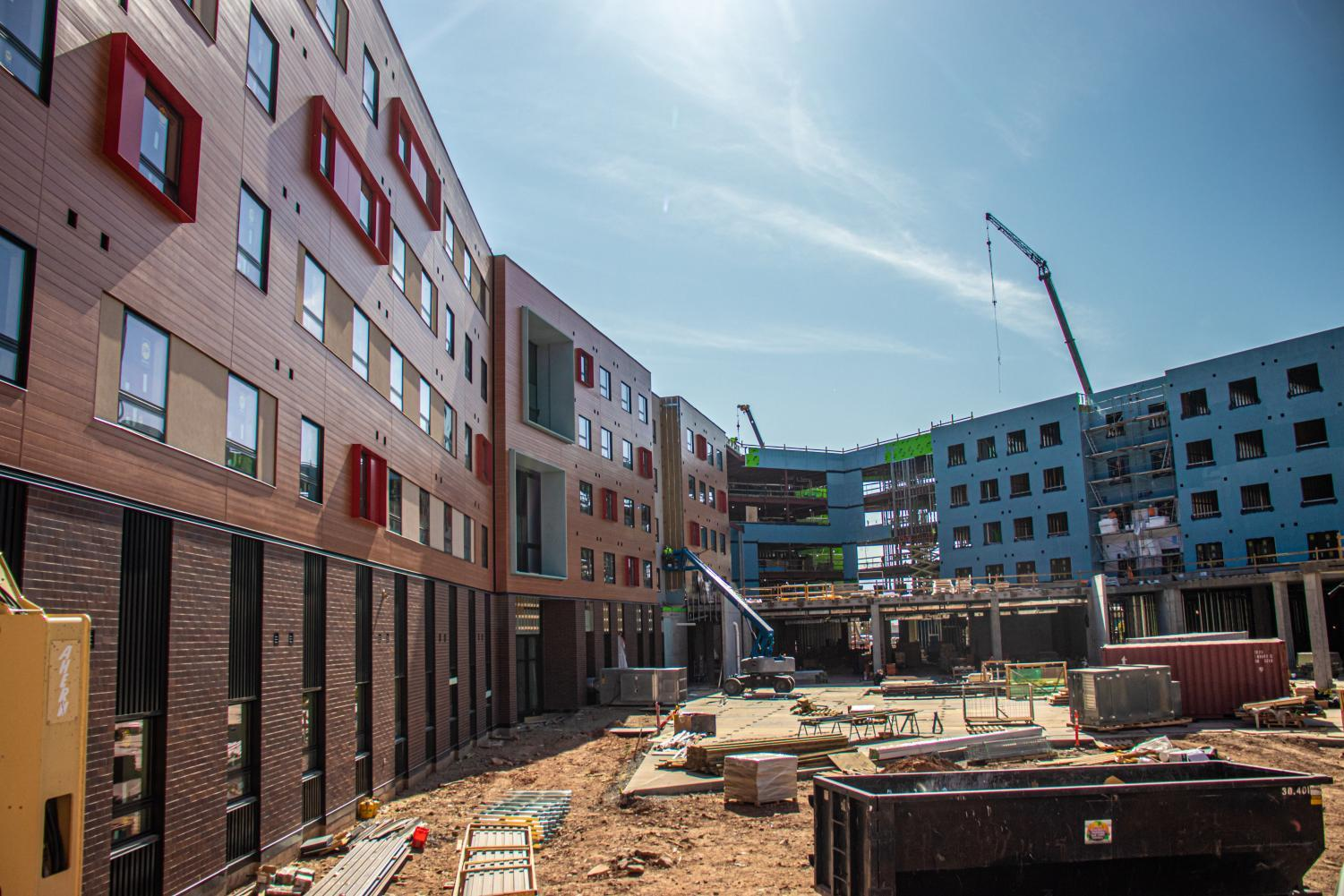 The in-construction Kahert Village Residence Dorms, University of Utah Campus, Salt Lake City, UT on Monday, October 14th, 2019. (Photo by Mark Draper | The Daily Utah Chronicle)