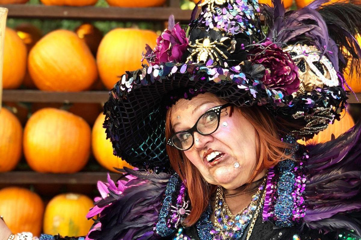 Guests to Witchfest can meet and greet with the Gardner Village witches, including Lucinda the Witch, pictured here. (Courtesy of Gardner Village)