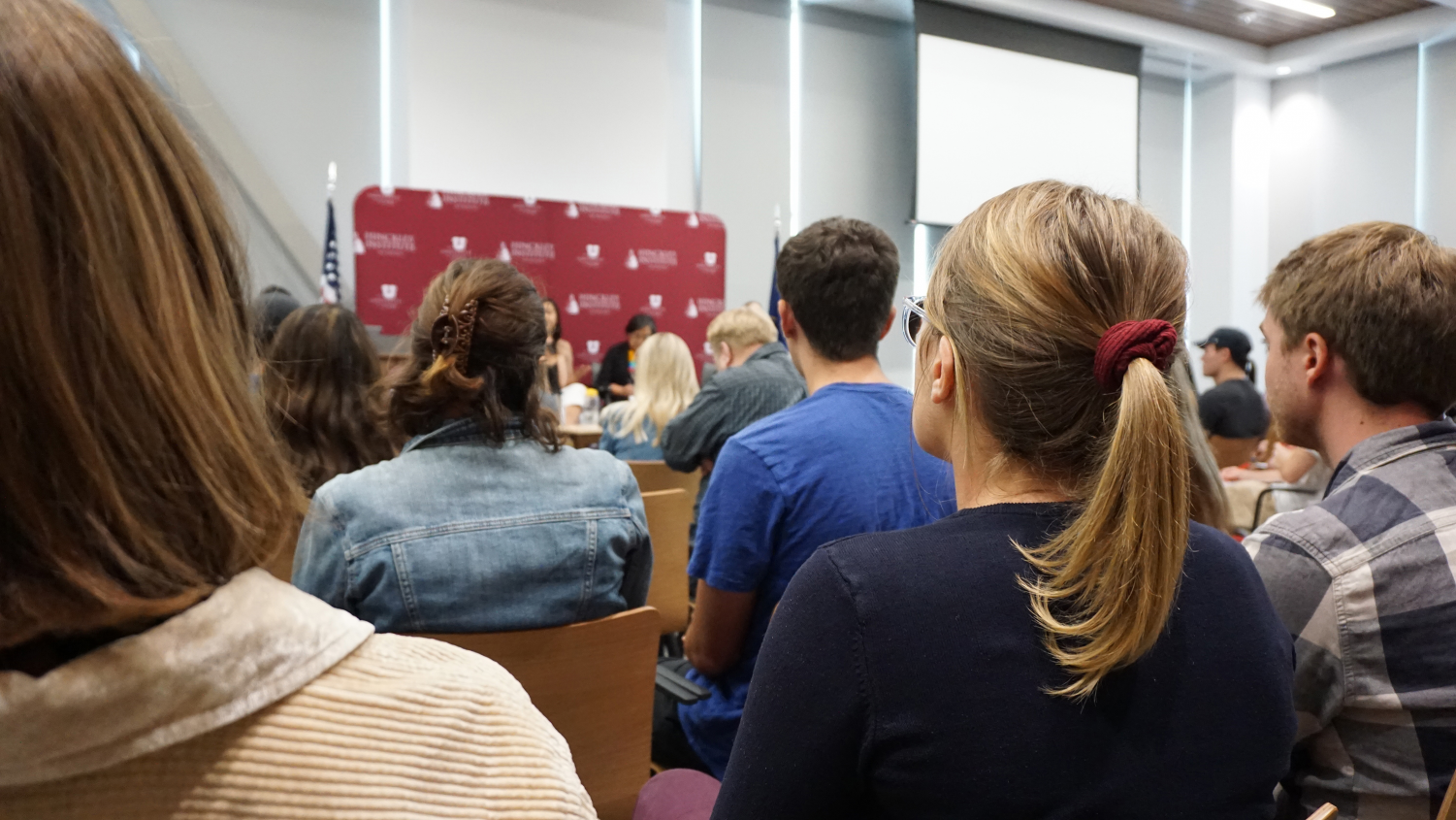 A Hinckley Forum hosted in the Gardner Commons | Courtesy of the Hinckley Institute)