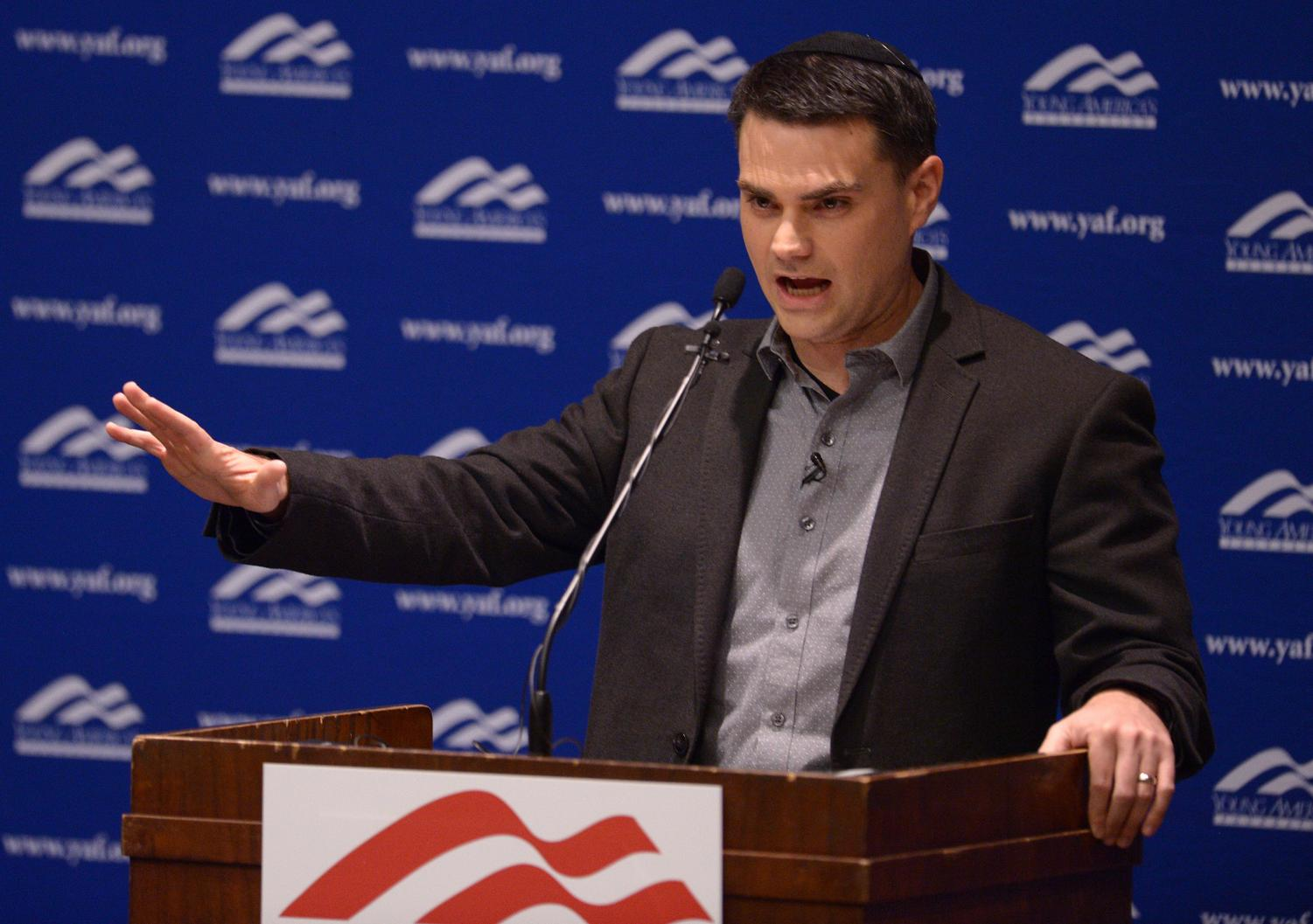 (Leah Hogsten | The Salt Lake Tribune/pool) Controversial conservative commentator Ben Shapiro, editor-in-chief of the Daily Wire and former editor-at-large of Breitbart News, addresses the student group Young Americans for Freedom at the University of Utah's Social and Behavioral Sciences Lecture Hall, Wednesday, September 27, 2017. Shapiro was invited by the student organization sponsored by Young America's Foundation, the parent organization over campus Young Americans for Freedom chapters, not the university itself.