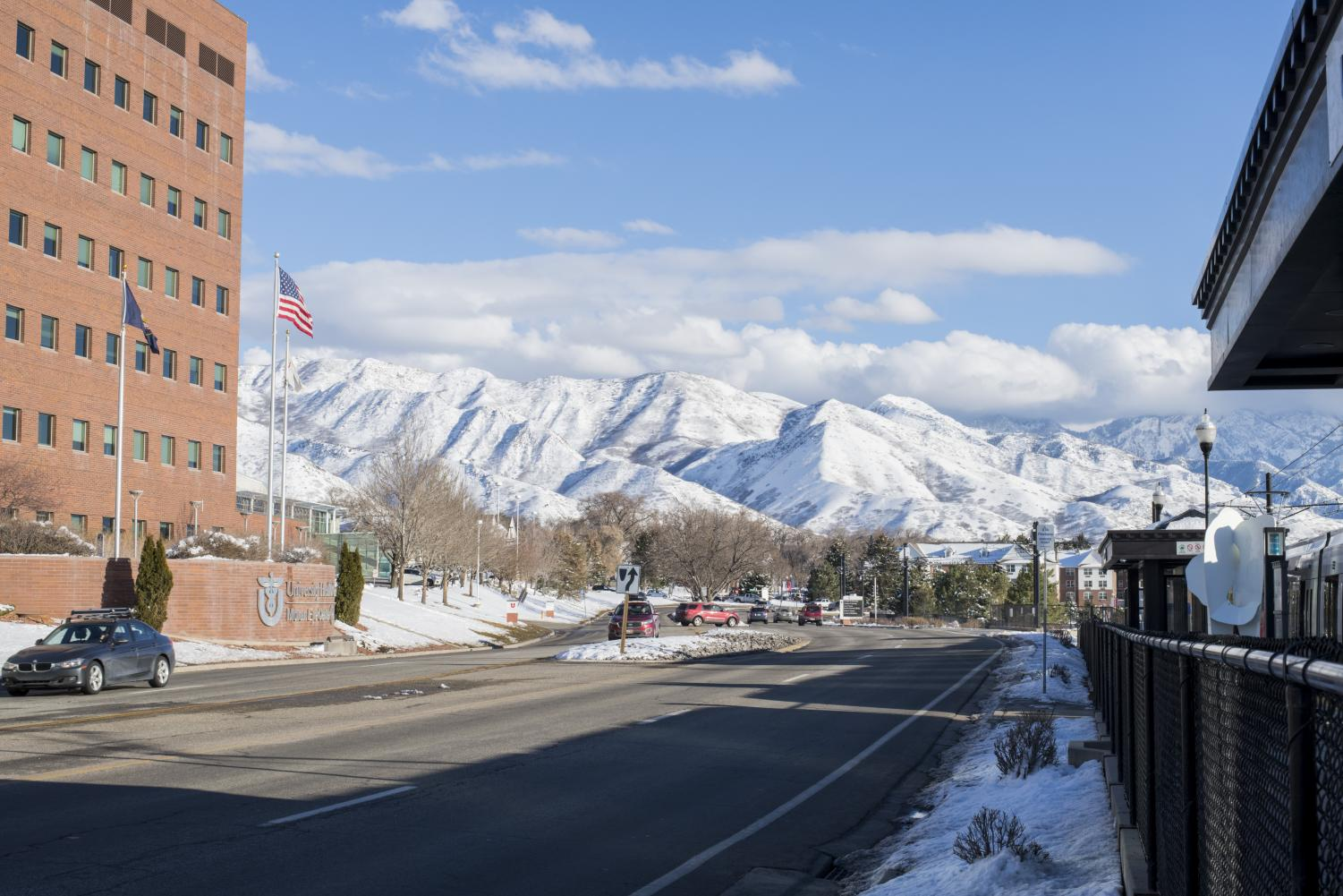 The University of Utah is located 4,783 feet above sea level. Recent research suggests the high elevation plays a role in high suicide rates. (Photo by Curtis Lin | Daily Utah Chronicle)