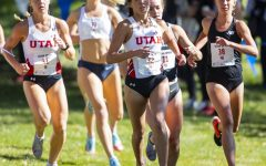 University of Utah sophomore Kennedy Powell (32) during the Women's 5K run at the Utah Open in an NCAA Cross Country Meet at Sunnyside Park in Salt Lake City, UT on Friday October 25, 2019.(Photo by Curtis Lin | Daily Utah Chronicle)