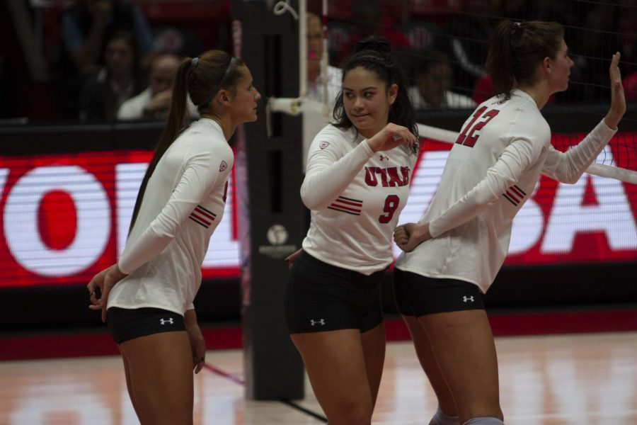 University of Utah Women's Volleyball plays Washington State at the Huntsman Center in Salt Lake City on Sunday, Oct 27, 2019 (Photo by Camille Rousculp | The Daily Utah Chronicle)