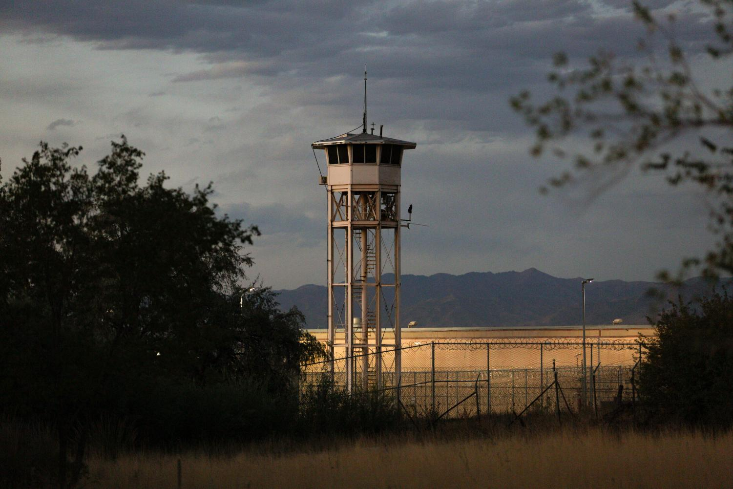A guard tower at the Utah State Prison. (Photo by Justin Prather | The Daily Utah Chronicle).