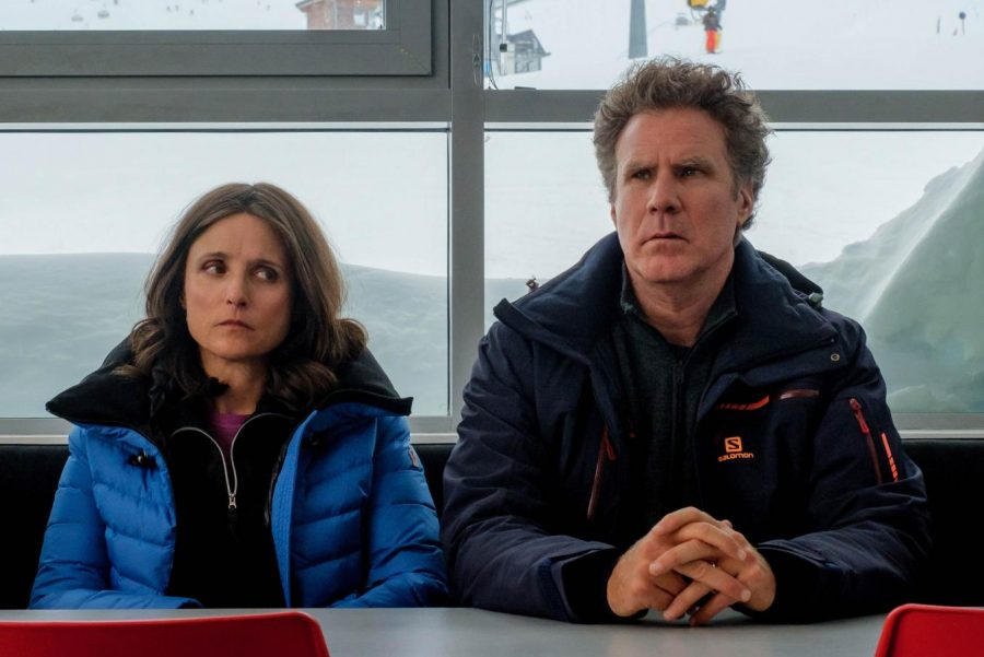 Julia Louis-Dreyfus and Will Ferrel appear in Downhill by Jim Rash and Nat Faxon, an official selection of the Premieres program at the 2020 Sundance Film Festival. Courtesy of Sundance Institute.