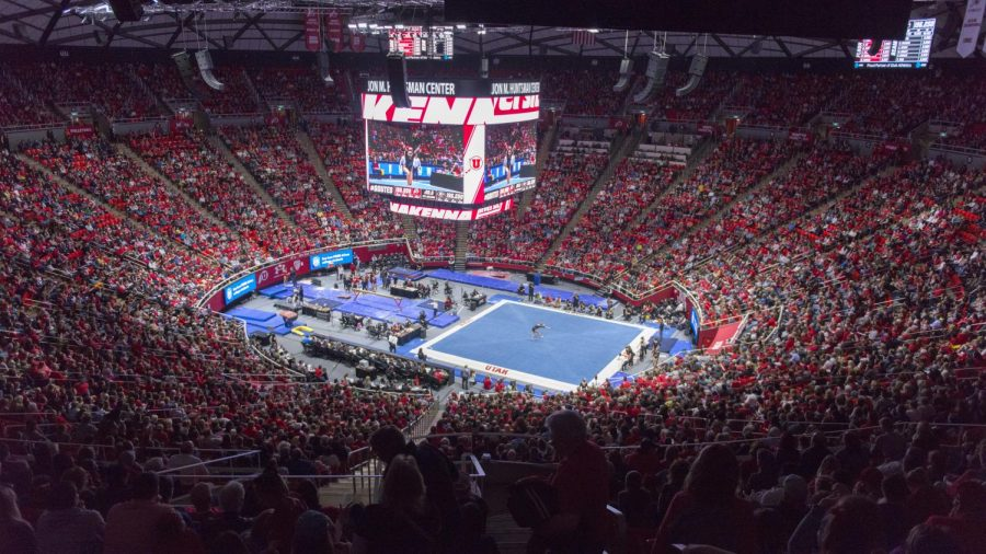 University+of+Utah+women%27s+gymnastics+junior+MaKenna+Merrell-Giles+performs+on+the+floor+in+a+duel+meet+vs.+The+University+of+Georgia+Bulldogs+at+the+Jon+M.+Huntsman+Center+in+Salt+Lake+City%2C+Utah+on+Friday%2C+March+16%2C+2018.%28Photo+by+Kiffer+Creveling+%7C+The+Daily+Utah+Chronicle%29
