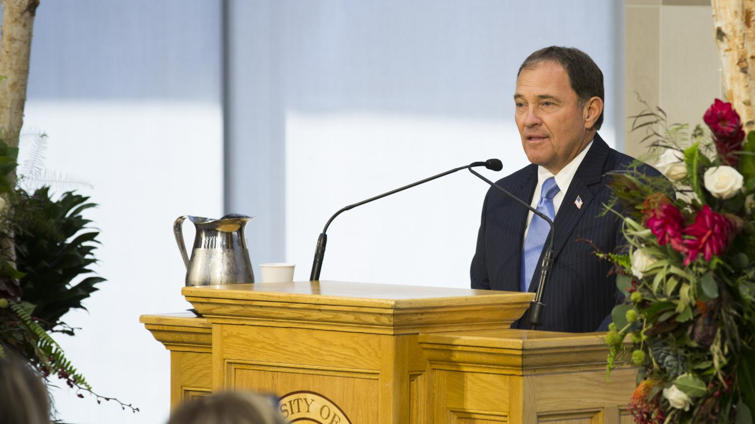 Governor Gary Herbert (R), at the dedication of the new S.J. Quinney School of Law building on Tuesday, Sept. 1, 2015   Chronicle archives