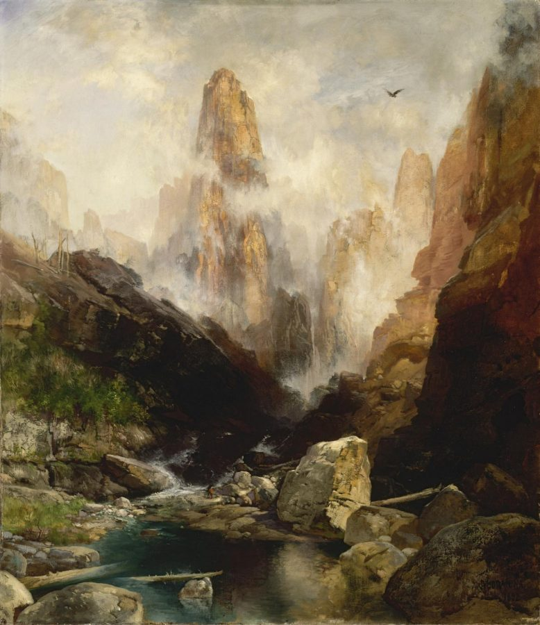 Thomas+Moran%E2%80%99s+Mist+in+Kanab+Canyon%2C+Utah+%281892%29%0A%E2%80%9CThomas+Moran%E2%80%99s+Mist+in+Kanab+Canyon%2C+Utah+%281892%29+was+painted+20+years+after+one+of+Moran%E2%80%99s+trips+out+west.+His+romantic+and+visually+gorgeous+pictures+of+the+American+West+were+widely+disseminated+back+East+and+helped+encourage+U.S.+lawmakers+to+create+the+National+Park+System.+He+was+so+taken+with+Yellowstone+in+particular+that+he+took+to+using+the+word+as+his+middle+name%21+The+painting+we+borrowed+is+luminous+%E2%80%94+showing+the+amazing+beauty+of+the+canyons+of+southern+Utah+that+we+know+and+love+so+well.%E2%80%9D