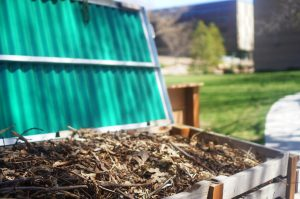 Edible gardens compost at the U in Salt Lake City, Utah on Thursday, Apr. 6, 2017. (Photo by Rishi Deka | Daily Utah Chronicle)
