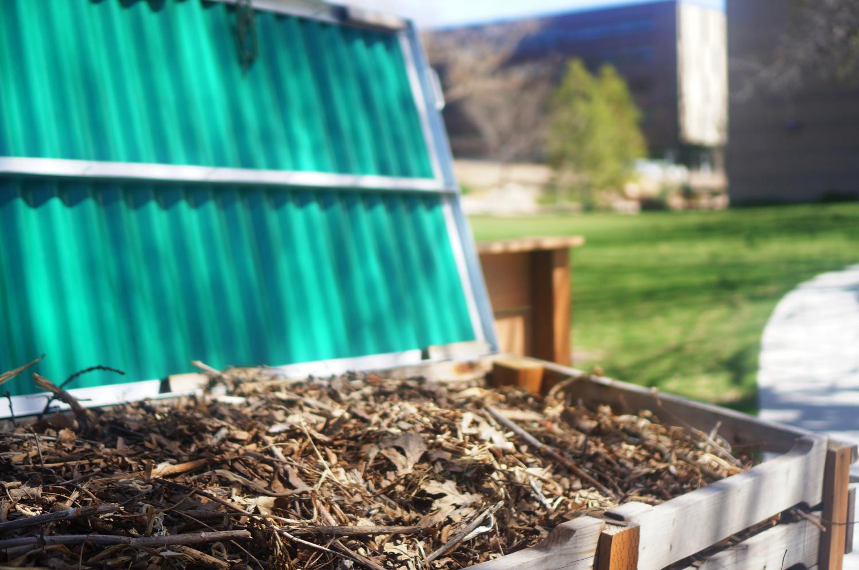 Edible gardens compost at the U in Salt Lake City, Utah on Thursday, Apr. 6, 2017. (Photo by Rishi Deka   Daily Utah Chronicle)