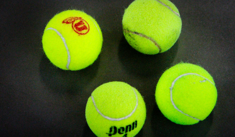 Tennis balls at the Eccles Tennis Center February 5, 2017. Michael Adam Fondren for the Daily Utah Chronicle.