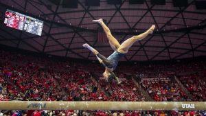 LeBlanc Comes West, Shines on the Gymnastics Team