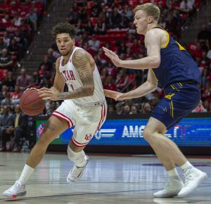 University of Utah sophomore forward Timmy Allen (1) during an NCAA Basketball game vs. the California Golden Bears at the Jon M. Huntsman Center in Salt Lake City, Utah on Saturday, Feb. 8, 2020. (Photo by Jalen Pace | The Daily Utah Chronicle)