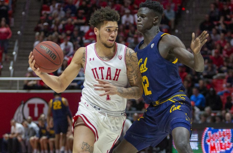 University+of+Utah+sophomore+forward+Timmy+Allen+%281%29+during+an+NCAA+Basketball+game+vs.+the+California+Golden+Bears+at+the+Jon+M.+Huntsman+Center+in+Salt+Lake+City+on+Saturday%2C+Feb.+8%2C+2020.+%28Photo+by+Jalen+Pace+%7C+The+Daily+Utah+Chronicle%29