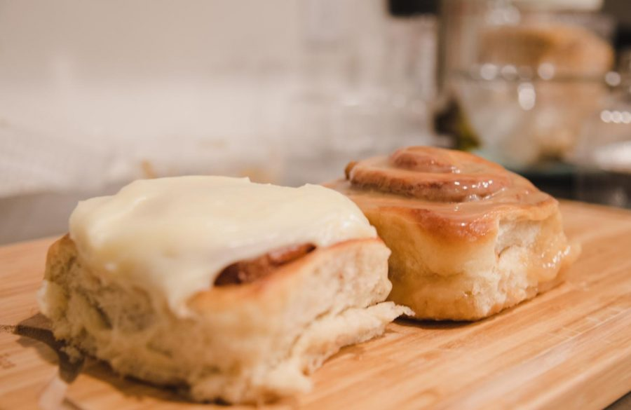 They reminded me of the cinnamon rolls my mother made on Sunday mornings when I was younger. (Photo by Savannah Vance   Daily Utah Chronicle)
