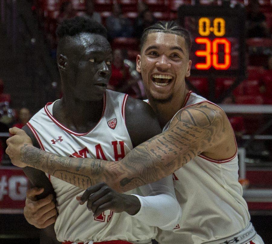 Gach's Big Game Leads Utah Men's Basketball to Victory in Regular Season Finale