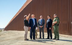 President Donald J. Trump, joined by United States Customs and Border Protection Acting Commissioner Mark Morgan and Department of Homeland Security Acting Secretary Kevin McAleenan Department of Homeland Security, visit the border area of Otay Mesa, Wednesday, Sept. 18, 2019, a neighborhood along the Mexican border in San Diego, California. (Photo by Shealah Craighead | Courtesy Wikimedia Commons)