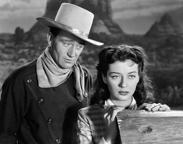 John Wayne and Gail Russell in the 1947 film