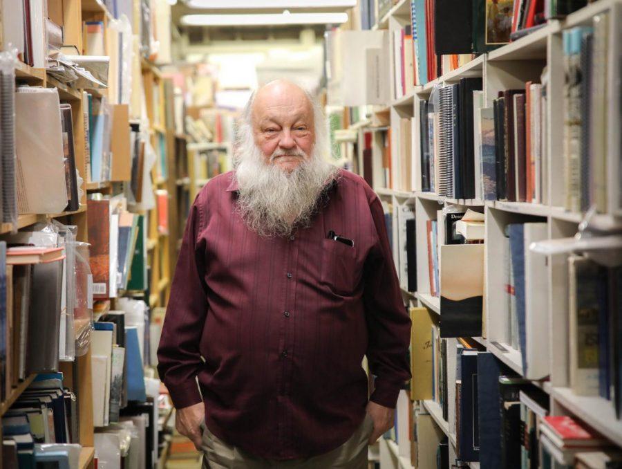 Ken Sanders, owner of Ken Sanders Rare Book Store, on Thursday, Jan. 30, 2020, in Salt Lake City. (Photo by Cassandra Palor | Daily Utah Chronicle)