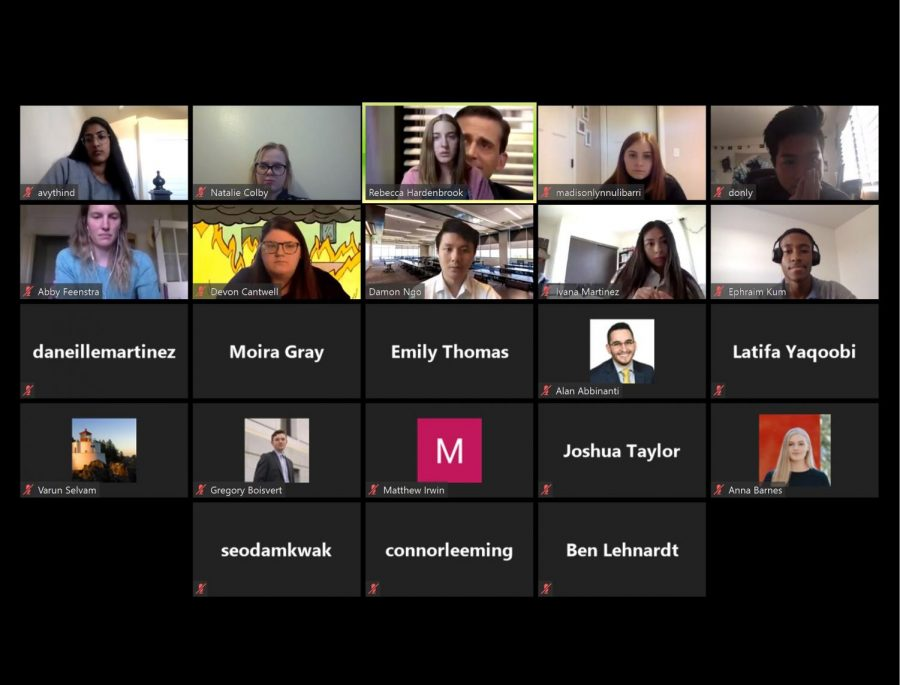 Senate+representatives+meet+over+Zoom+to+discuss+Joint+Bill+18.+%7C+Screenshot+by+Natalie+Colby+and+Ivana+Martinez