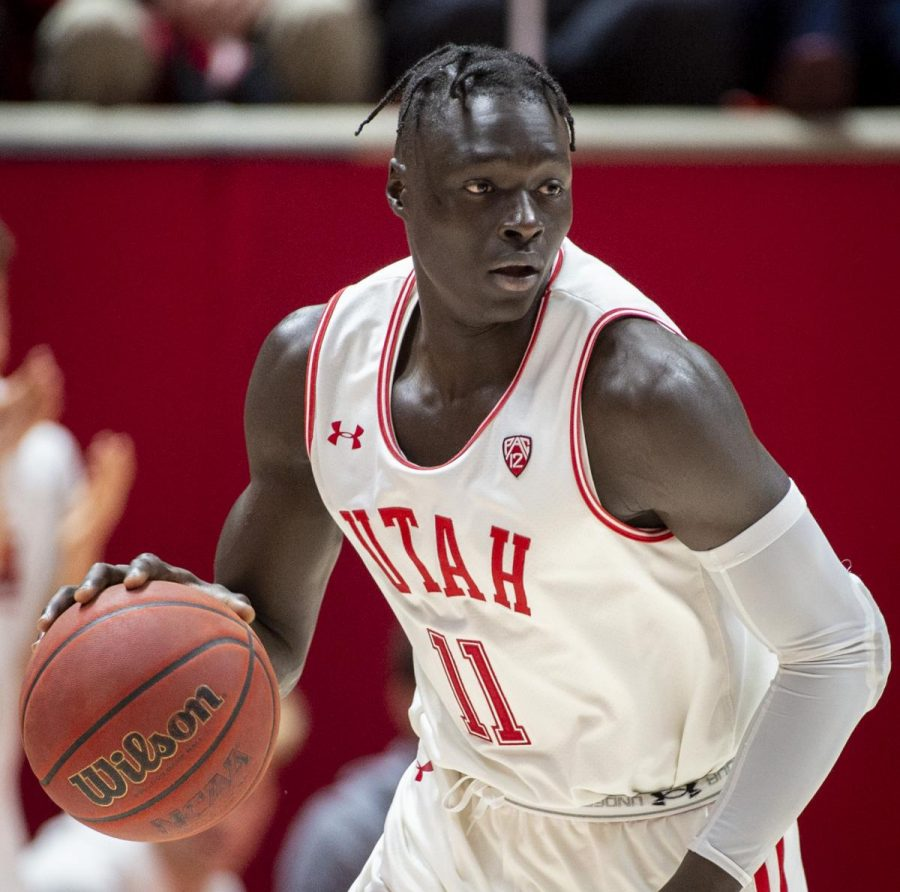 University+of+Utah+sophomore+guard+Both+Gach+%2811%29+dribbles+the+ball+during+an+NCAA+Basketball+game+vs.+The+University+of+Washington+at+the+Jon+M.+Huntsman+Center+in+Salt+Lake+City%2C+Utah+on+Thursday%2C+Jan.+23%2C+2020.+%28Photo+by+Kiffer+Creveling+%7C+The+Daily+Utah+Chronicle%29