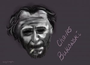 Bukowski's poetry is unlike most of what you'll read from any other poet. (Cartoon by Isabelle Schlegel | Daily Utah Chronicle)