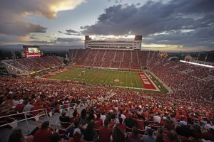 Rice-Eccles stadium as the University of Utah plays University of Washington in Utah