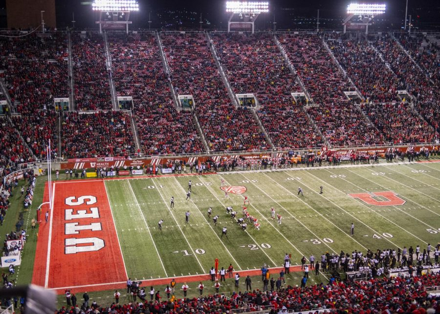 The University of Utah plays The University of Colorado during an NCAA Football game at Rice Eccles Stadium in Salt Lake City, Utah on Saturday, Nov. 30, 2019. (Photo by Kiffer Creveling | The Daily Utah Chronicle)