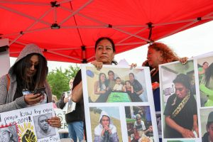 Bernardo Palacios-Carbajal's mom, Lucy Carbajal, mourns her son at his vigil on June 6, 2020. (Photo by Ivana Martinez   Daily Utah Chronicle)