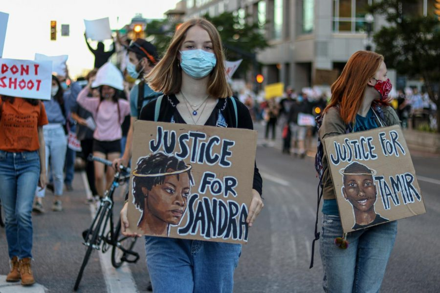Protestors demand justice for individuals whove been victims of police brutality on June 9, 2020. (Photo by Ivana Martinez | Daily Utah Chronicle)